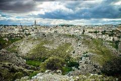 Matera, город камней Стоковая Фотография
