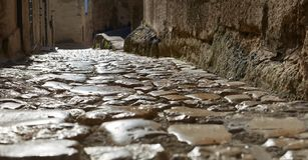 Matera, путь sassi стоковое фото rf