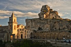 """Matera, """"la città delle pietre in Italia sothern fotografia stock"""