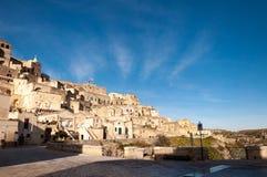 Matera, европейская столица культуры 2019 Базиликата, Италия стоковое изображение