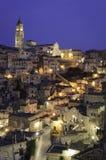 Matera, alta vista di definizione di Sasso Barisano Fotografia Stock