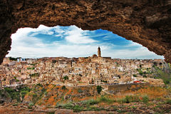 Matera - ancient cave city. Royalty Free Stock Photo