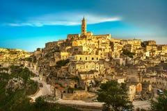 Matera ancient town i Sassi, Unesco site landmark. Basilicata, I Stock Images