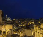 Matera 2019 basilic by night Stock Image