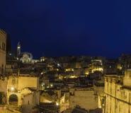 Matera 2019 basilic par nuit Image stock