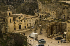 Matera 2019 basilic set ben hur scenography Royalty Free Stock Photos