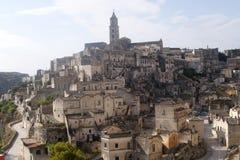 Matera (Basilicata, Italië) - de Oude Stad (Sassi) royalty-vrije stock foto's
