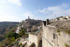 Matera (Basilicata, Italië) - de Oude Stad (Sassi) stock foto