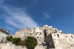 Matera (Basilicata, Italië) - de Oude Stad (Sassi) royalty-vrije stock fotografie