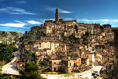 Matera, Basilicata - Italia. Stunning views of Matera - Italy Stock Photography