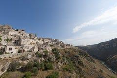 Matera (Basilicata, Italia) - la ciudad vieja (Sassi) Foto de archivo