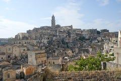 Matera (Basilicata, Italia) - la vecchia città (Sassi) Immagini Stock Libere da Diritti