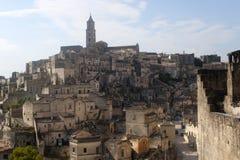 Matera (Basilicata, Italia) - la vecchia città (Sassi) Fotografie Stock
