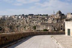 Matera (Basilicata, Italia) - la vecchia città (Sassi) Fotografia Stock Libera da Diritti