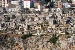 Matera (Basilicata, Italien) - die alte Stadt (Sassi) Stockfotografie