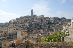 Matera (Basilicata, Italy) - a cidade velha (Sassi) Imagens de Stock Royalty Free