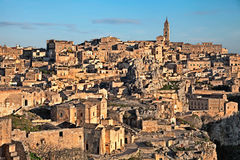 Matera, Basilicata, Italy: landscape of the old town Royalty Free Stock Photo