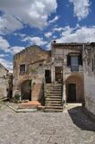 Matera, Basilicata, Italy. The old city Sassi, traditional architecture. Royalty Free Stock Photos