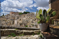 Matera, Basilicata, Italy. The old city Sassi, traditional architecture. Stock Images