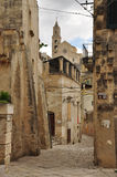 Matera, Basilicata, Italy. The old city Sassi, traditional architecture. Stock Photos