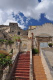 Matera, Basilicata, Italy. The old city Sassi, traditional architecture. Royalty Free Stock Image