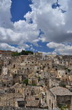 Matera, Basilicata, Italy. The old city Sassi, traditional architecture. Royalty Free Stock Photo