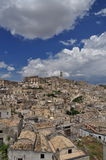 Matera, Basilicata, Italy. The old city Sassi, traditional architecture. Royalty Free Stock Images
