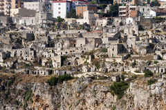 Matera (Basilicata, Italy) - The Old Town (Sassi). Unesco World Heritage Site Stock Photography