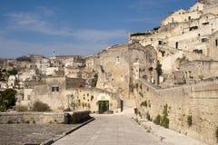Matera (Basilicata, Italy) - The Old Town (Sassi) Royalty Free Stock Images