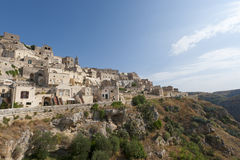 Matera (Basilicata, Italy) - The Old Town (Sassi) Royalty Free Stock Image