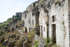 Matera (Basilicata, Italy) - The Old Town (Sassi) Stock Photography