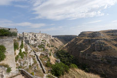 Matera (Basilicata, Italy) - The Old Town (Sassi) Royalty Free Stock Photos