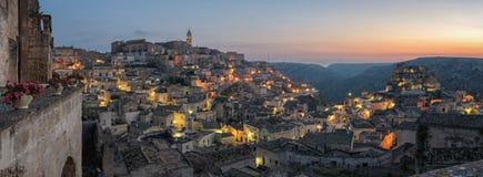 Matera & x28; Basilicata Italy& x29; Sasso Caveoso Fotografia de Stock Royalty Free