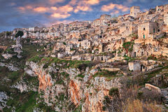 Matera, Basilicata, Italy: view of the old town Stock Image