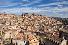 Matera, Basilicata, Italy: view at sunrise of the old town Royalty Free Stock Photo