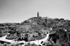 Matera black and white Stock Images