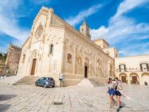 Matera, capitale européenne de la culture 2019 : La cathédrale images stock