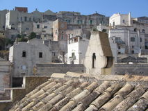 Matera Chimney. Chimney of an old house in Sassi di Matera old city Stock Images