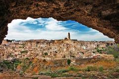 Matera - cidade antiga da caverna. foto de stock royalty free