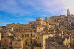 Matera, cidade da cultura 2019 imagens de stock