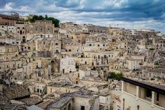 Matera, città in Basilicata, Puglia, Italia Fotografia Stock Libera da Diritti