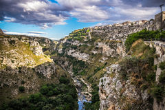 Matera, the city of stones stock image