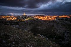 Matera, city of stones Royalty Free Stock Photos
