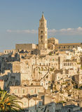 Matera City, Sunny view. Sunny view of the newest side of Matera city Stock Photos