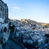 Matera Cityscape Royalty Free Stock Photos