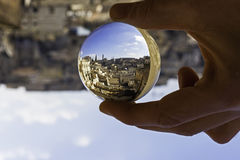 Matera in a crystal ball Stock Images