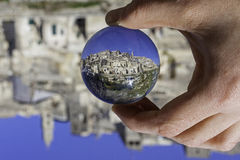 Matera in a crystal ball Royalty Free Stock Photo