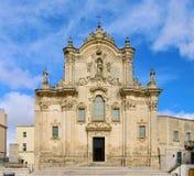 Matera d Kirche San Francesco Assisi Zdjęcie Stock
