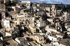 Matera den underjordiska staden, Italien arkivfoto