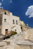 Matera en Basilicata, Italia Imagen de archivo